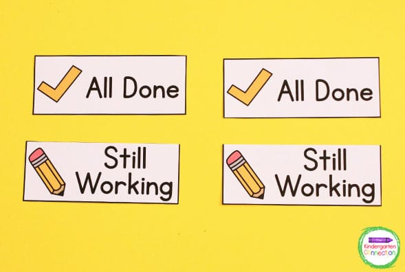 Just print and laminate these labels for organizing student work for added durability.