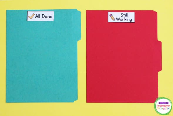 Use these labels for organizing student work on folders for students to store independent work.